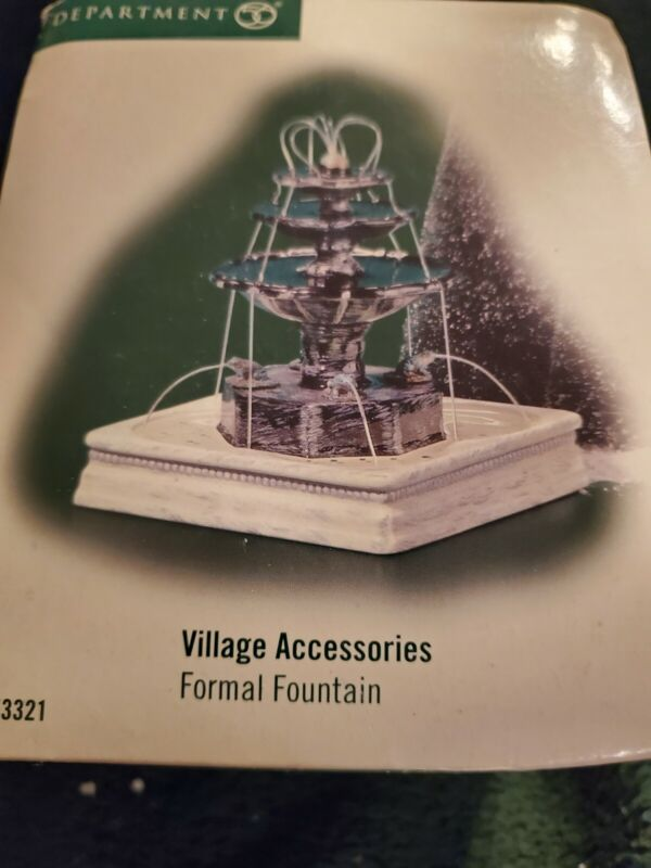 Department 56: Formal Fountain - Village Accessory