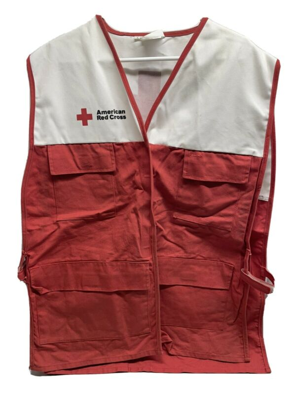 Vintage AMERICAN RED CROSS DISASTER RELIEF VEST Size LARGE