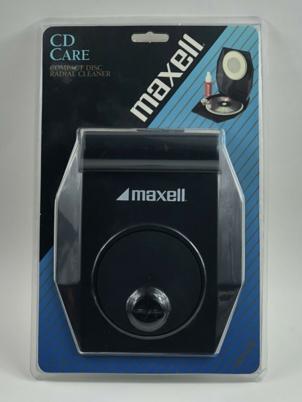 NIB Maxell COMPACT DISC RADIAL CLEANER