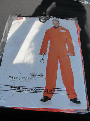 Prison Jumpsuit Halloween Costume for Men  Size One Size Fits Most (Prisoner Costumes For Halloween)