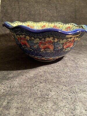 """Polish Pottery Ceramika Artystyczna """"Something Magical"""" Tulip Bowl"""