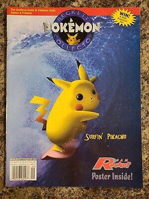 Beckett Pokemon Collector Magazine Sep 2001 25th Anniversary Pikachu Surfing