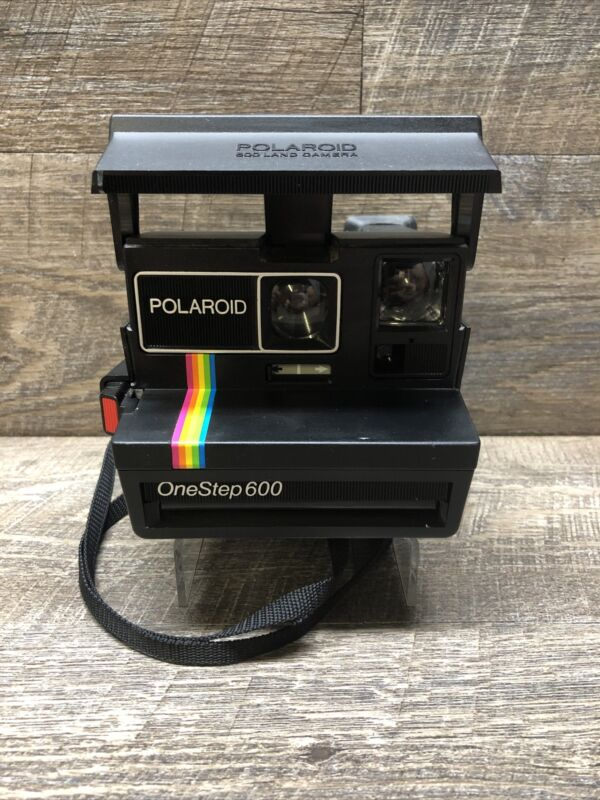 Vintage Polaroid One Step 600 Land Camera Instant Film Rainbow Stripe