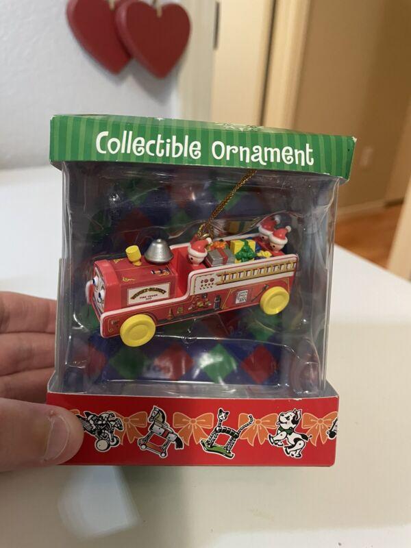 Basic Fun Mattel 2005 Fisher Price Winky Blinky Fire Truck Ornament