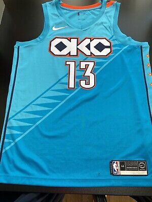 Nike Oklahoma City Thunder 13 George NBA Jersey in size M