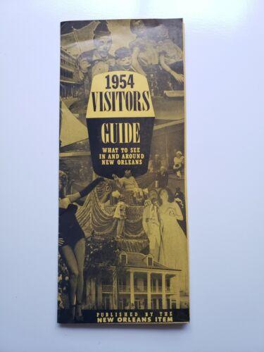 1954 Visitors Guide New Orleans Item Vtg Map Souvenir Travel Brochure Photo !!!