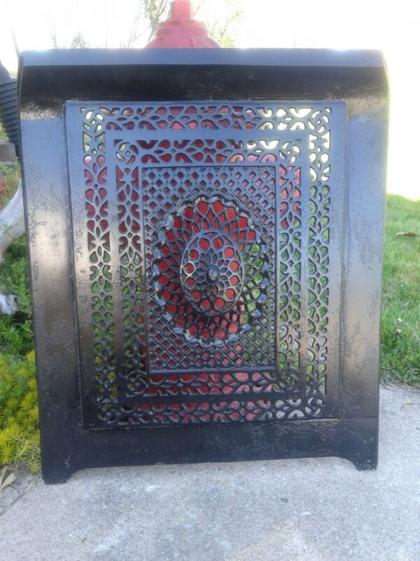 Ornate Cast Iron Fireplace Summer Cover