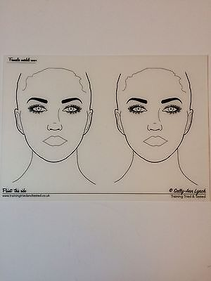 Sally Ann Lynch A3 Face Painting Practice Board 2 Ladies Faces