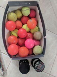 Lot of Street Hockey Balls, Ice Hockey Pucks and Tennis