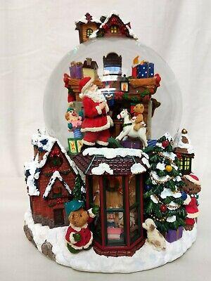 Kirkland Santa Claus Christmas Village Rotating Musical Light Up Water Globe