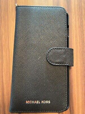 Michael Kors Folio Phone Case IPhone 7 Plus 8 Plus Black Wallet Style V