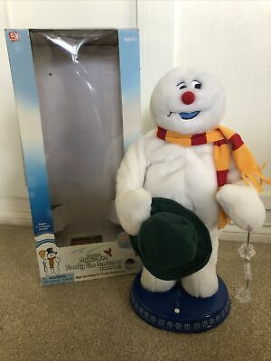 """Gemmy Frosty The Snowman Christmas Animated Dancing Spinning Snowflake 18"""" READ"""