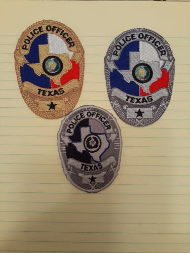 3 Texas Badge Patch set
