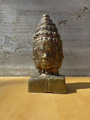 South-asian Thai brass / broze four faced diety / god figurine [Y7-W7-A9]