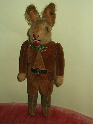 very rare early antique all original steiff dressed rabbit