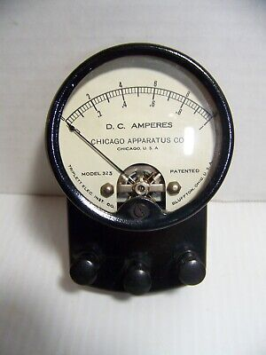 Vintage Triplett Chicago Apparatus D.c. Amp Meter Model 325