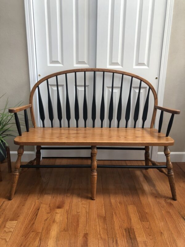 *SPECIAL PRICING* Black Spindle Deacons Bench