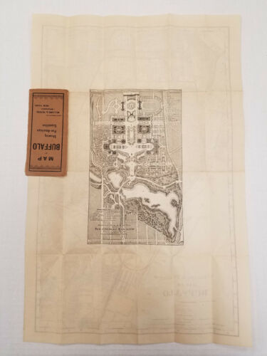 Map of Buffalo Showing the Pan-American Exposition c1901 13.5 x 20.5 Two-Sided