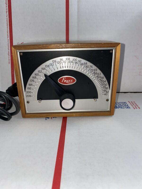 Vintage Franz Electric Metronome - Model LM-FB-5 - Solid Walnut Mint Excellent