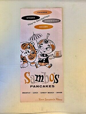 Vintage Sambo's Pancakes Souvenir Menu