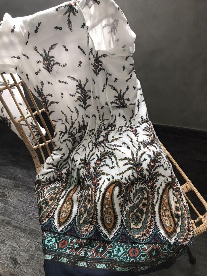 Neu Esprit Tunika Kleid weiß mit tollem bunten  Muster 36/38 in Daun