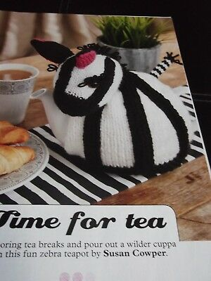 Time for Tea Zebra Tea Cosy knitting pattern by Susan Cowper