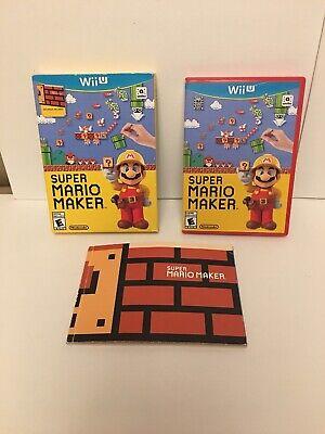 SUPER MARIO MAKER AMIIBO CD LIVRE ARTBOOK CONNECTS NINTENDO WII U COMPLETE PAL (Super Mario Connect)