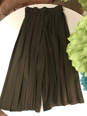 Lead Rein Show Pony/ M & M Pleated Culottes Dark Olive Size 8-10