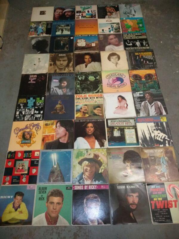 Lot Of 50 Classic Rock Folk Pop Soft Rock vinyl record albums