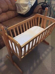 For sale solid maple bassinet rocker