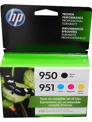 4-PACK HP GENUINE 950 Black & 951 Color Ink - 2020/2021 (RETAIL BOX)