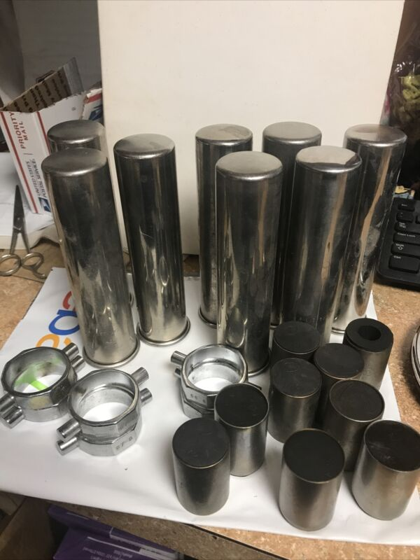 Lot of 8 IEC 367 Centrifuge Tube Shield 6 366 Collar Rings 9 Cat 575 5 /76 As Is