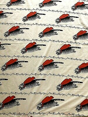 Vintage B Kilban Flying Cat Super Hero Cape Twin Flat Sheet City Cape Black Red