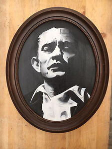 Young Johnny Cash Painting