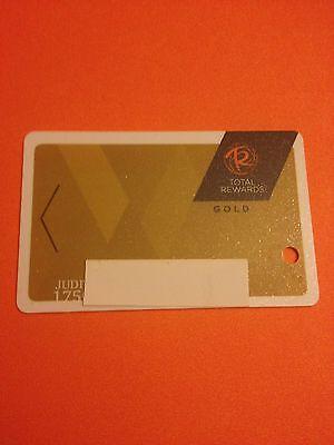Total Rewards Gold Card Prefix 175 New Design Casino Slot Card