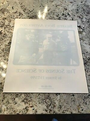 BEASTIE BOYS 1999 SOUNDS OF SILENCE RARE PROMO WINDOW CLING STORE DISPLAY LARGE