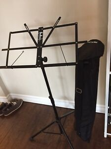 Sheet Music Stand with Case Like New