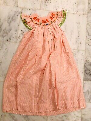 Little Girl Smocked Dresses (Smocking...Peach embroidered Smocked Little Girl's Dress, Remember Nguyen, Sz)
