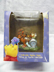 DISNEY Tigger & Snail Collectible Figurine Clock New in Box Winnie the Pooh