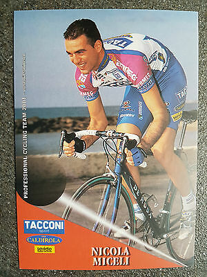 AK o.AG Nicola Miceli Team Tacconi Sport - Vini Caldirola 2001 Rarität
