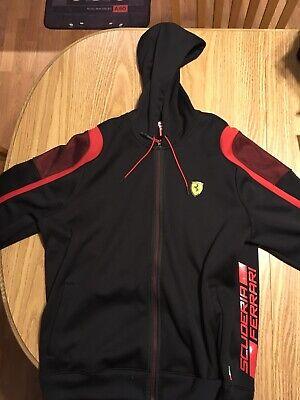 PUMA F1 Scuderia FERRARI Zipper Sweatshirt XXL 2XL Hooded Black Formula 1 Vettel