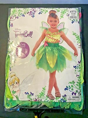Disney Fairies TinkerBell Classic Costume Halloween Fancy Dress Wings Small 4-6