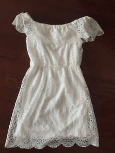 White lace dress off shoulder event new XL