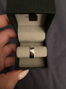 Mimco Silver Band Ring with 2 Stones
