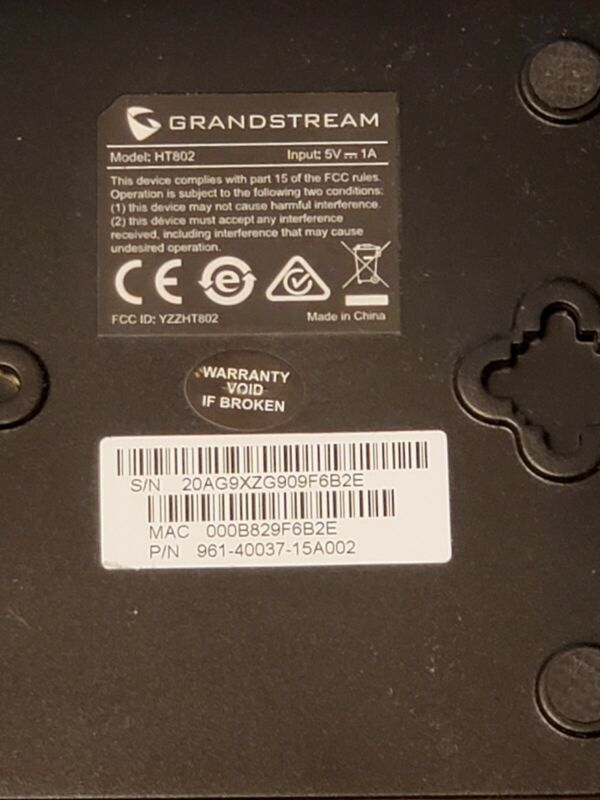 Vonage VOIP ATA adapter Grandstream HT802 2 port