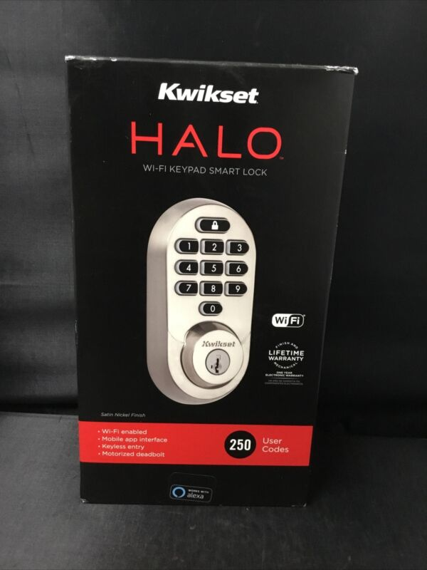 Authentic Kwikset Halo Wi-Fi Keypad Smart Lock Satin Nickel 99380-001 Brand New