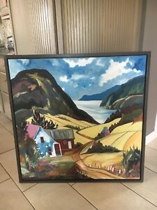 Quebec scenery oil painting.