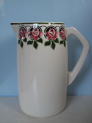 Esterwerda Waschkrug Spritzdekor Rosen Art Deco Jugendstil Shabby Wasserkrug