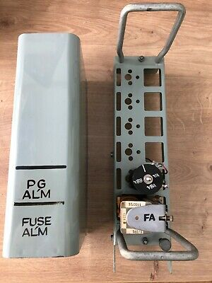 gpo strowger rackside fuse alarm relay box old grey