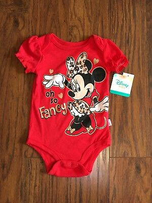 NWT Disney Baby Minnie Mickey Mouse Oh So Fancy  Red - Size 6-9 M